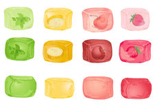 Cubi di ghiaccio del cocktail con la frutta Immagine Stock Libera da Diritti