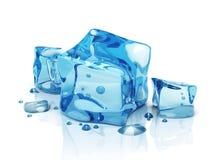 cubi di ghiaccio dell'acqua 3D Immagini Stock