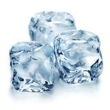 Cubi di ghiaccio di fusione immagini stock