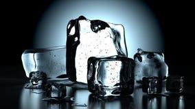 Cubi di ghiaccio freddi Immagini Stock Libere da Diritti