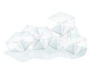 Cubi di ghiaccio isolati Immagine Stock Libera da Diritti