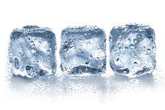 Cubi di ghiaccio isolati Fotografie Stock Libere da Diritti