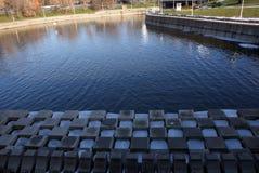 Cubi di ghiaccio sul lago Fotografie Stock