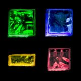Cubi di ghiaccio variopinti Immagini Stock Libere da Diritti