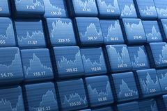 Cubi di indice di borsa Immagine Stock