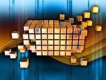 Cubi di informazioni Fotografie Stock Libere da Diritti