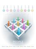 Cubi di informazioni della gente Immagine Stock