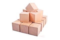 Cubi di legno Fotografie Stock Libere da Diritti