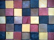 Cubi di legno nei colori differenti Immagini Stock Libere da Diritti