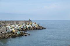Cubi di memoria a Llanes, Asturie, Spagna fotografie stock libere da diritti