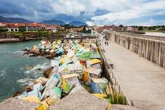 Cubi di memoria a Llanes, Spagna fotografia stock libera da diritti