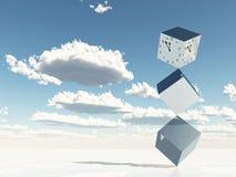 Cubi di metallo e di tempo Immagine Stock