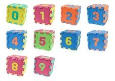 Cubi di numero Immagine Stock