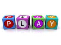 Cubi di parola del gioco illustrazione di stock