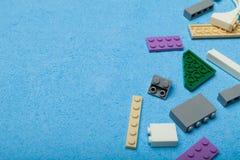 Cubi di plastica del giocattolo, spazio della copia per testo fotografie stock libere da diritti
