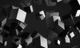 Cubi di Scifi nello spazio vuoto royalty illustrazione gratis