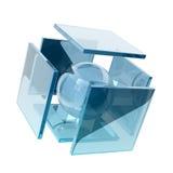 Cubi di vetro Illustrazione di Stock