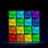 Cubi di vetro colorati Rainbow Fotografie Stock Libere da Diritti