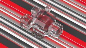 Cubi di vetro glassato su un fondo variopinto illustrazione 3D Fotografie Stock