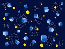 Cubi di volo Immagini Stock