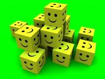 Cubi felici 2 Fotografia Stock Libera da Diritti