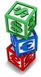 Cubi finanziari Fotografia Stock