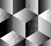 Cubi geometrici del fron del modello con differente Fotografia Stock