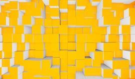 Cubi gialli Fotografie Stock