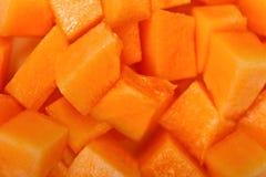Cubi gialli del melone fotografie stock