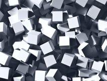 Cubi grigi Immagini Stock