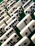 Cubi impilati di domino Immagine Stock Libera da Diritti