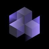 Cubi isometrici astratti per progettazione Fotografia Stock