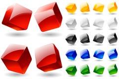 Cubi multicolori in bianco Immagine Stock