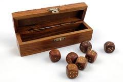 Cubi per i giochi da tavolo fotografia stock libera da diritti