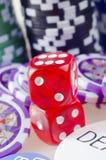 Cubi rossi Fotografia Stock