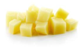 Cubi tagliati della patata Immagine Stock