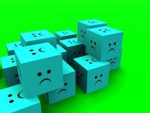 Cubi tristi 8 Fotografie Stock