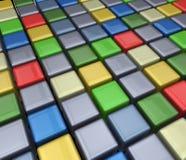 Cubi variopinti Immagine Stock