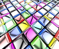 Cubi variopinti Fotografia Stock