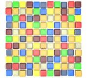 Cubi variopinti Fotografia Stock Libera da Diritti