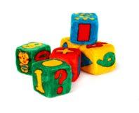 Cubi variopinti del giocattolo Fotografia Stock