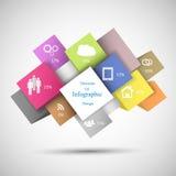 Cubi variopinti di Infographic Fotografia Stock