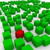 Cubi verdi Fotografia Stock
