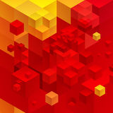 Cubic abstract background. Red background fantastic looking Stock Image