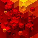 Cubic abstract background. Red background fantastic looking Stock Photo