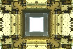 Cubic alien fractal Royalty Free Stock Photography