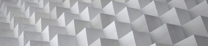 Cubic Aluminum Background (Website Head) - 3D Illustration Stock Photography