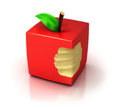 Cubic apple Royalty Free Stock Photography