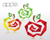 Cubic apples Stock Image