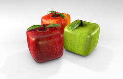 Cubic apples Stock Images